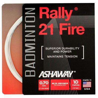 Ashaway Rally 21 Fire Badminton String Set - White