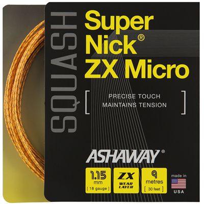 Ashaway SuperNick ZX Micro Squash String Set 2018