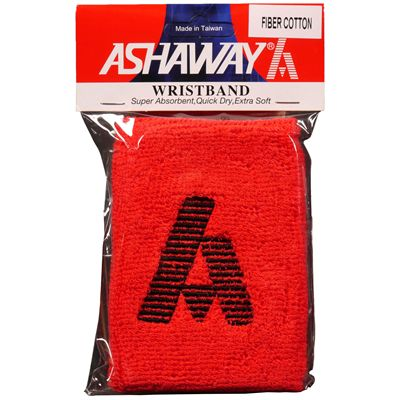 Ashaway Towelling Wristband-Red