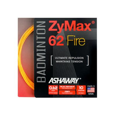 Ashaway Zymax Fire 62 Badminton String-10m Set-Orange-Image