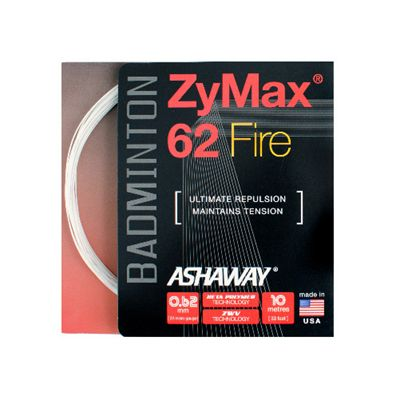 Ashaway Zymax Fire 62 Badminton String-10m Set-White-Image