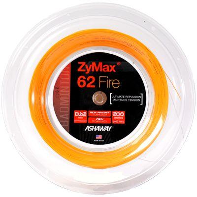 Ashaway Zymax Fire 62 Badminton String-200m Reel-Orange