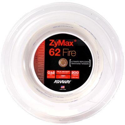 Ashaway Zymax Fire 62 Badminton String-200m Reel-White