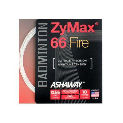 Ashaway Zymax Fire 66 Badminton String-10m Set-White
