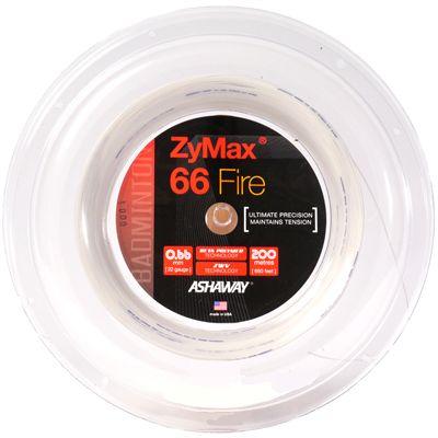 Ashaway Zymax Fire 66 Badminton String-200m Reel-White