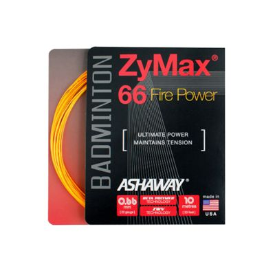 Ashaway Zymax Fire Power 66 Badminton String-10m Set-Orange