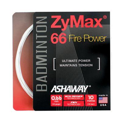 Ashaway Zymax Fire Power 66 Badminton String-10m Set-White