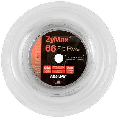 Ashaway Zymax Fire Power 66 Badminton String-200m Reel-White