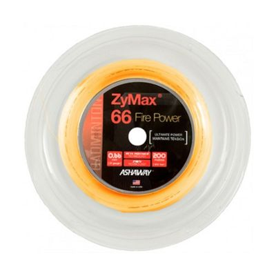 Ashaway Zymax Fire Power 66 Badminton String - Orange