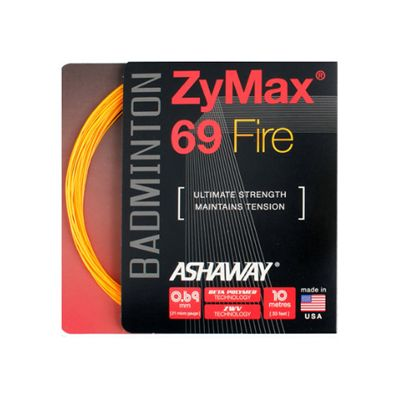 Ashaway Zymax Fire 69 Badminton String-10m Set-Orange