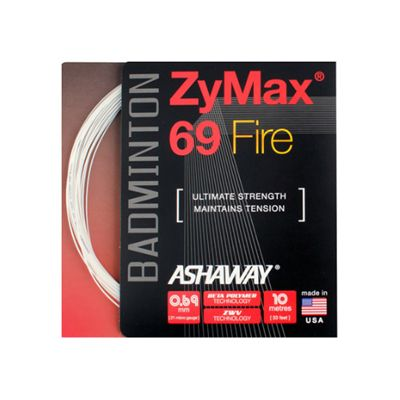 Ashaway Zymax Fire 69 Badminton String-10m Set-White