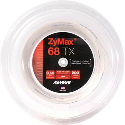 Ashaway ZyMax TX 68 Badminton String - 200m Ree - Whitel