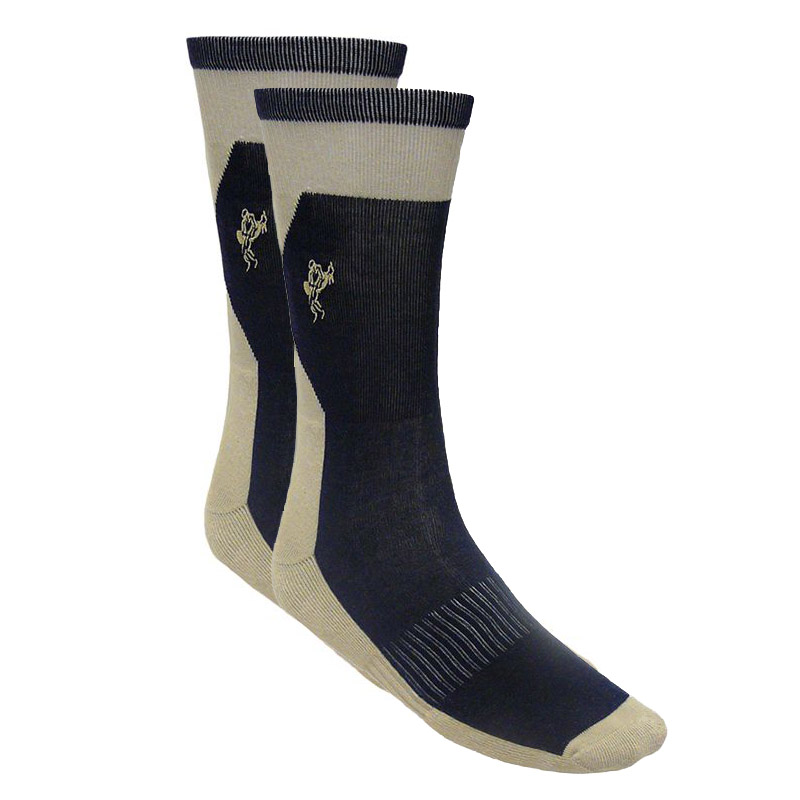 Ashworth Mens Cotton Rich Golf Socks  CreamNavy