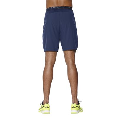 Asics Athlete 7 Inches Mens Tennis Shorts - Blue - Back
