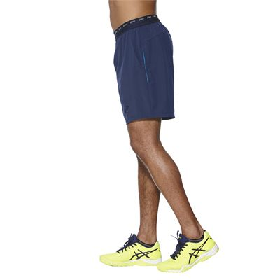 Asics Athlete 7 Inches Mens Tennis Shorts - Blue - Side