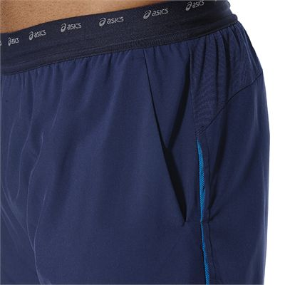 Asics Athlete 7 Inches Mens Tennis Shorts - Blue - Zoomed