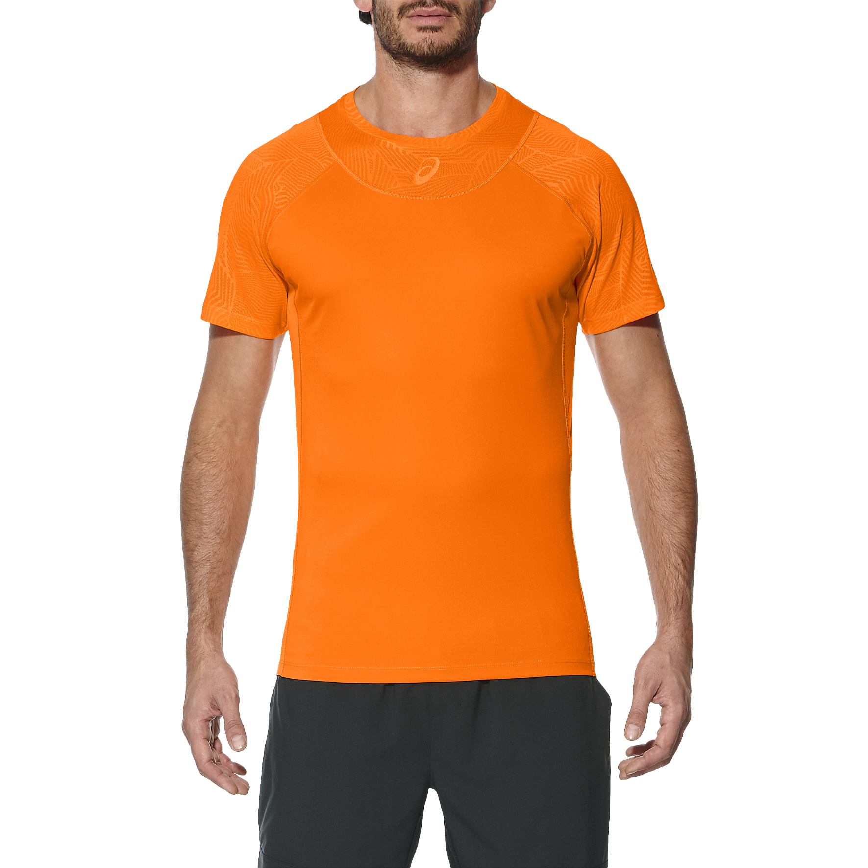 Asics Athlete Cooling Mens Tennis T-Shirt - Orange, S