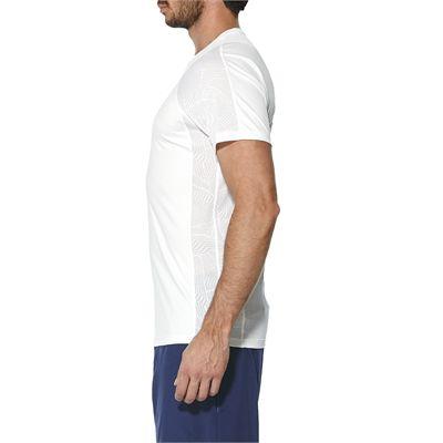 Asics Athlete Cooling Mens Tennis T-Shirt - White - Side