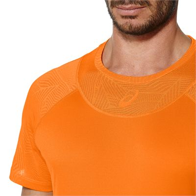 Asics Athlete Cooling Mens Tennis T-Shirt - Zoomed