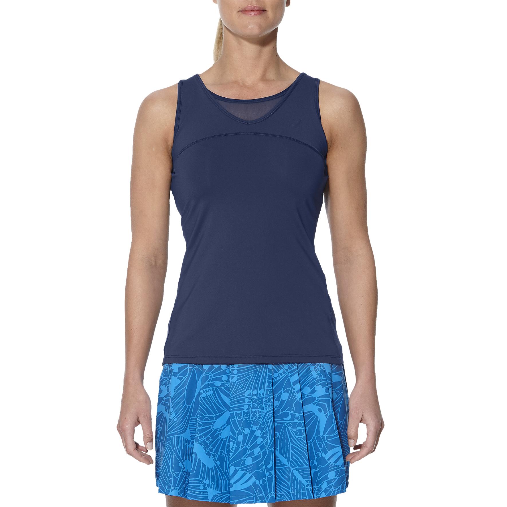 Asics Athlete Ladies Tennis Tank Top  Blue XS