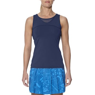 Asics Athlete Ladies Tennis Tank Top-blue-main