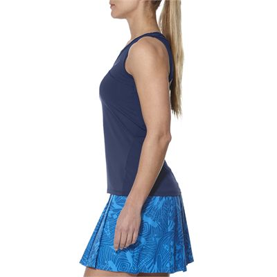 Asics Athlete Ladies Tennis Tank Top-blue-side