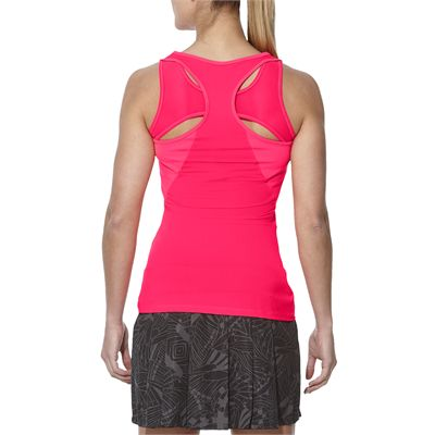 Asics Athlete Ladies Tennis Tank Top-pink-back