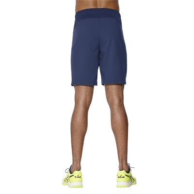 Asics Club 7 Inches Mens Tennis Shorts-blue-back