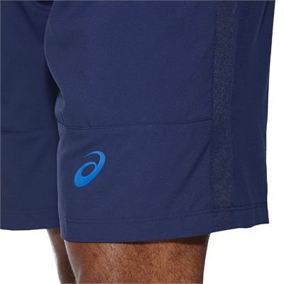 Asics Club 7 Inches Mens Tennis Shorts-blue-close