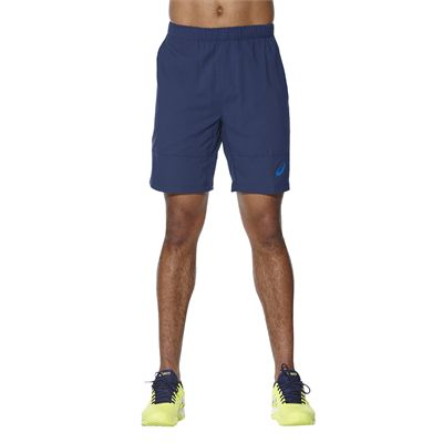 Asics Club 7 Inches Mens Tennis Shorts-blue-main