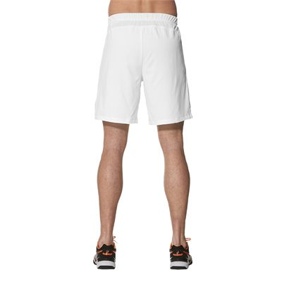 Asics Club 7 Inches Mens Tennis Shorts-white-back