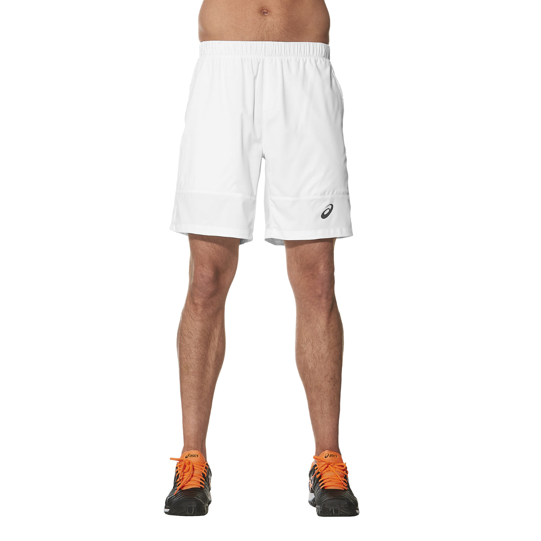 Asics Club 7 Inches Mens Tennis Shorts  White XXL