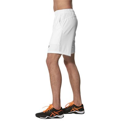 Asics Club 7 Inches Mens Tennis Shorts-white-side
