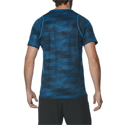 Asics Club GPX Mens Tennis T-Shirt-blue-back