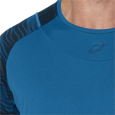 Asics Club GPX Mens Tennis T-Shirt-blue-close