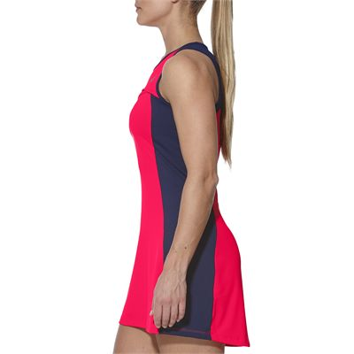 Asics Club Ladies Tennis Dress-pink-side
