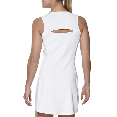Asics Club Ladies Tennis Dress-white-back