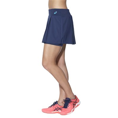 Asics Club Ladies Tennis Skort-blue-side