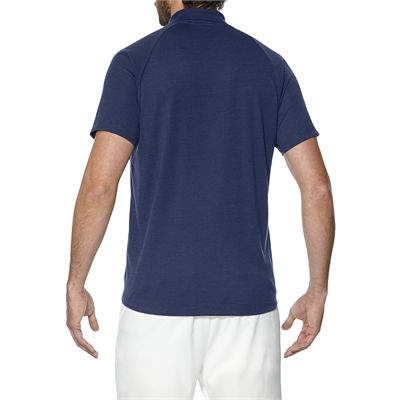 Asics Club Mens Tennis Polo-dark-blue-back