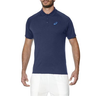 Asics Club Mens Tennis Polo-dark-blue-main