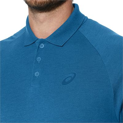 Asics Club Mens Tennis Polo-light-blue-close