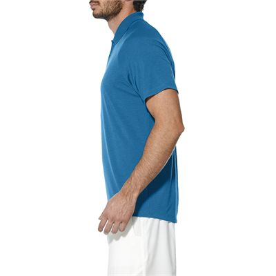 Asics Club Mens Tennis Polo-light-blue-side
