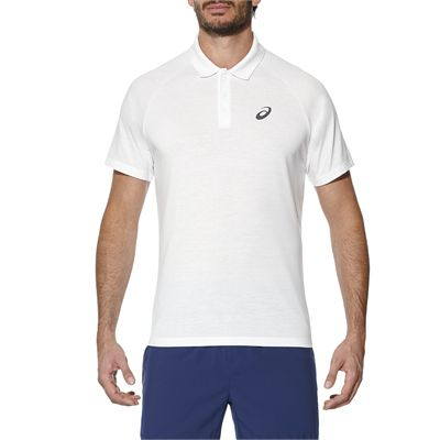 Asics Club Mens Tennis Polo-white-main