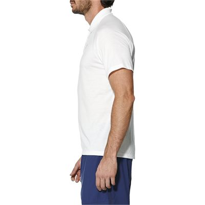 Asics Club Mens Tennis Polo-white-side