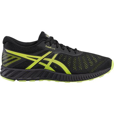 Asics FuzeX Lyte Mens Running Shoes-Black-Lime-Lateral
