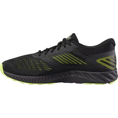 Asics FuzeX Lyte Mens Running Shoes-Black-Lime-Medial