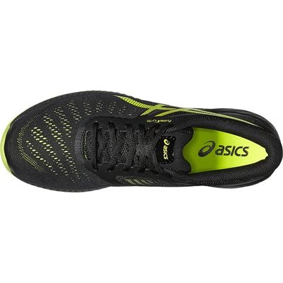 Asics FuzeX Lyte Mens Running Shoes-Black-Lime-Top