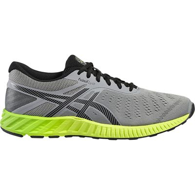 Asics FuzeX Lyte Mens Running Shoes-Grey-Green-Lateral