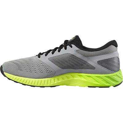 Asics FuzeX Lyte Mens Running Shoes-Grey-Green-Medial