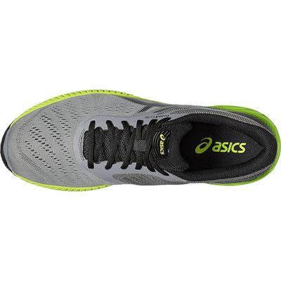 Asics FuzeX Lyte Mens Running Shoes-Grey-Green-Top